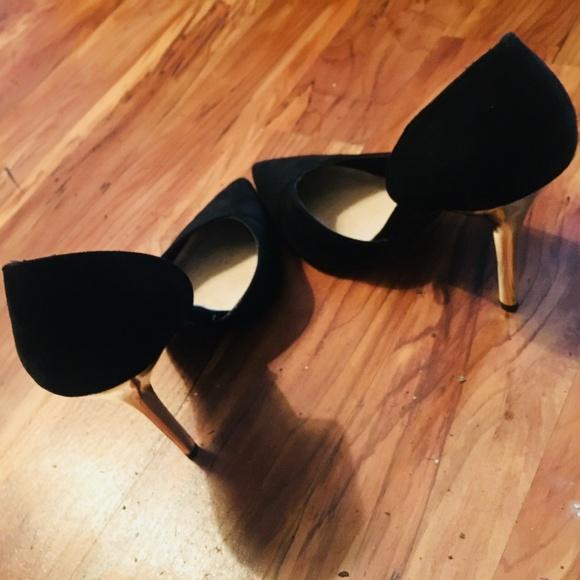 Primark Shoes | Black Faux Suede